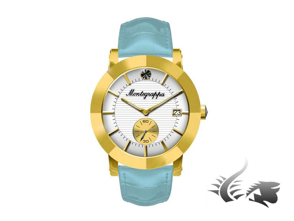 Montegrappa Nero Uno Ladies Quartz watch, Gold PVD, White, 36mm, IDLNWA08-Y