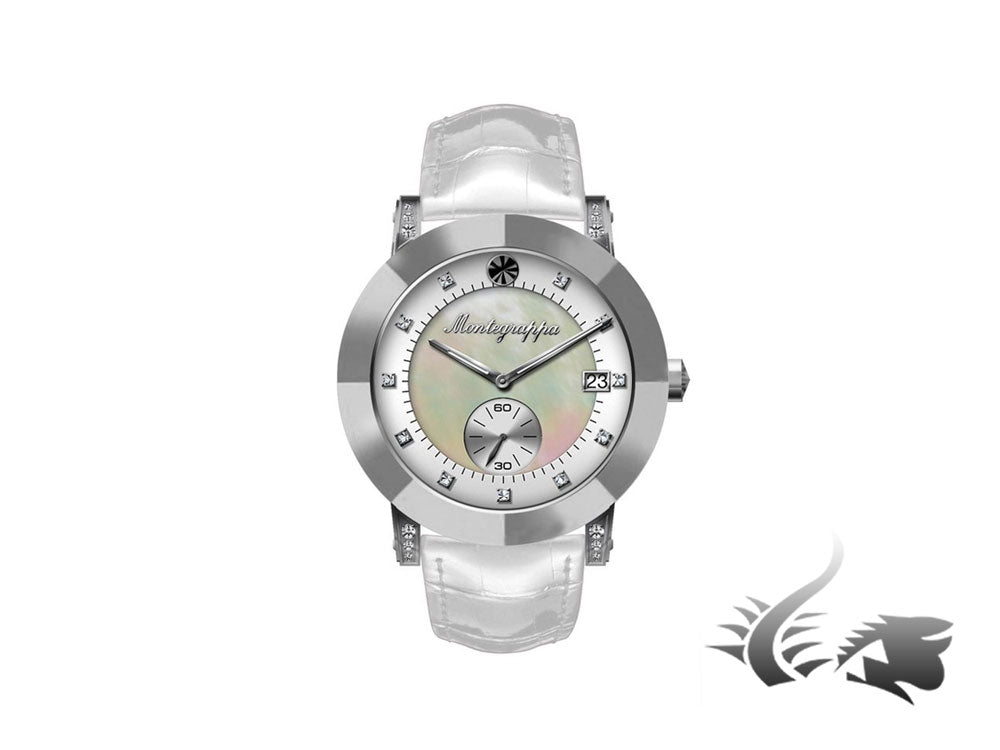 Montegrappa Nero Uno Ladies Quartz watch, Mother of pearl, Diamonds, 36mm