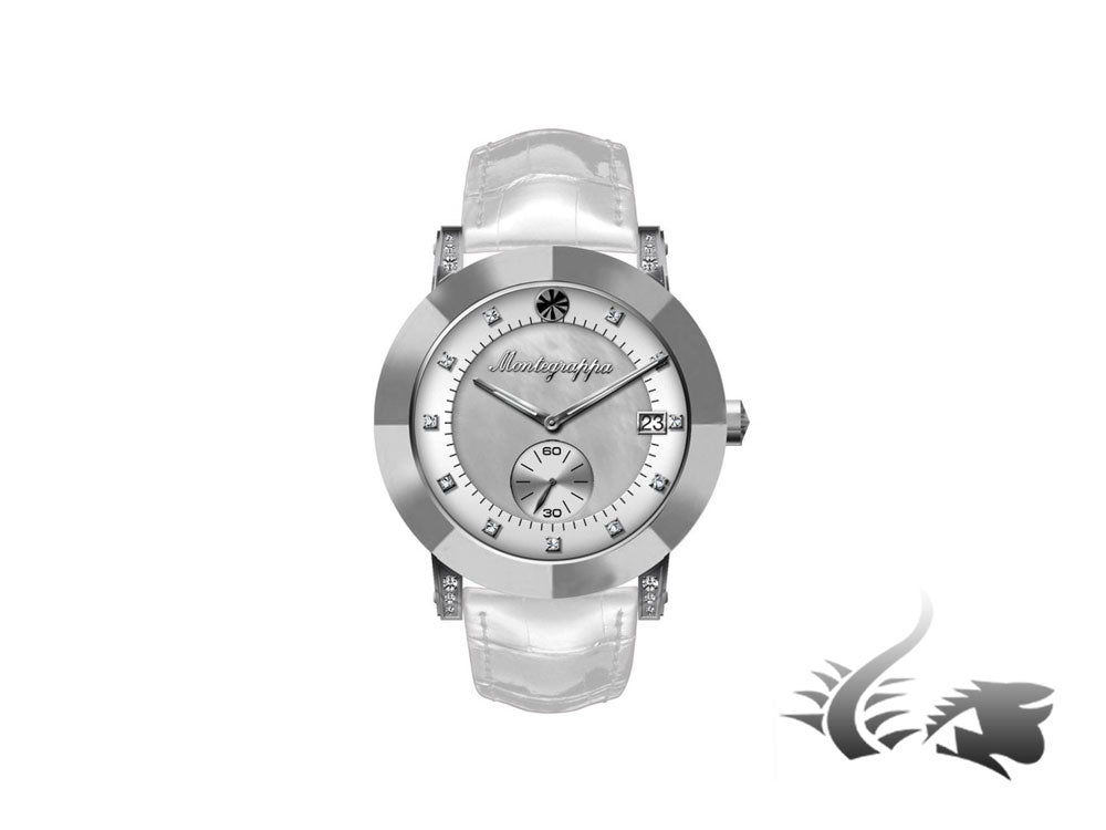 Montegrappa Nero Uno Ladies Quartz watch, Mother of pearl, Diamonds, IDLNWA46