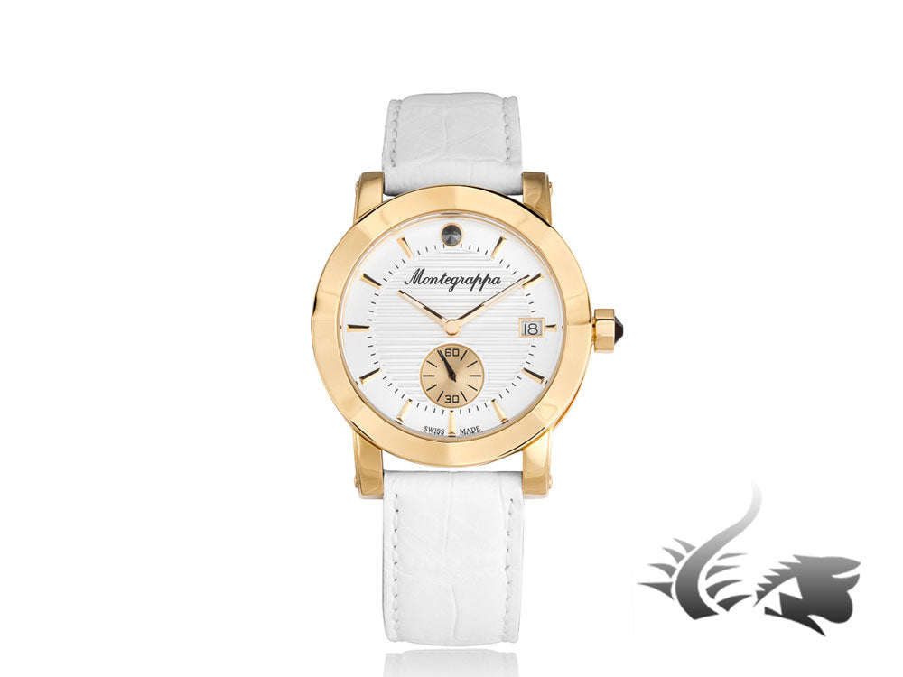 Montegrappa Nero Uno Ladies Quartz watch, Gold PVD, White, 36mm, IDLNWA10-Y