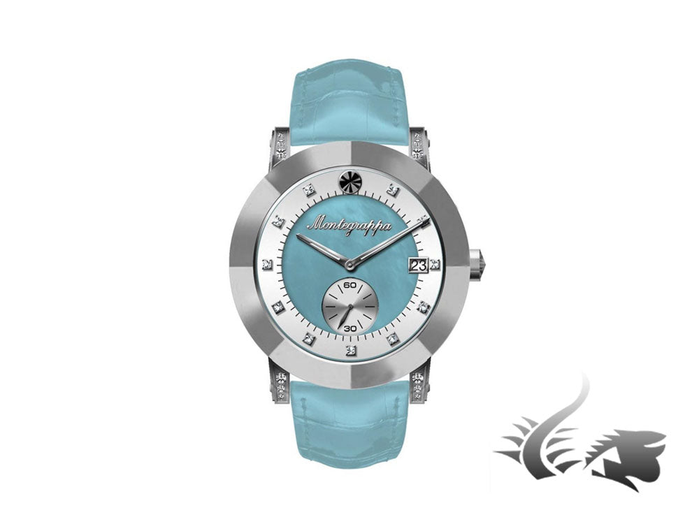 Montegrappa Nero Uno Ladies watch, Blue mother of pearl, Diamonds, IDLNWA52