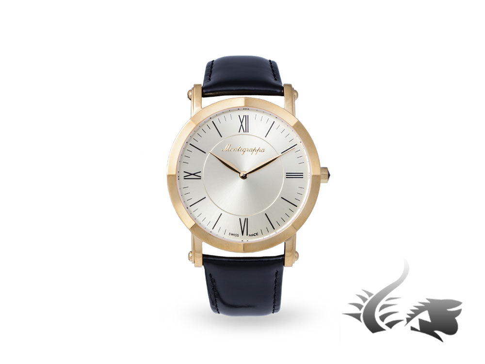 Montegrappa Nero Uno Slim Quartz watch, 40mm, Champagne, IDNWAYI