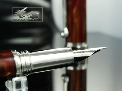 Montegrappa Espressione Fountain Pen, Brown Mother of Pearl Resin