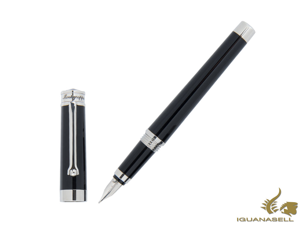 Montegrappa Parola Fountain Pen in Black Resin ISWOT-AB