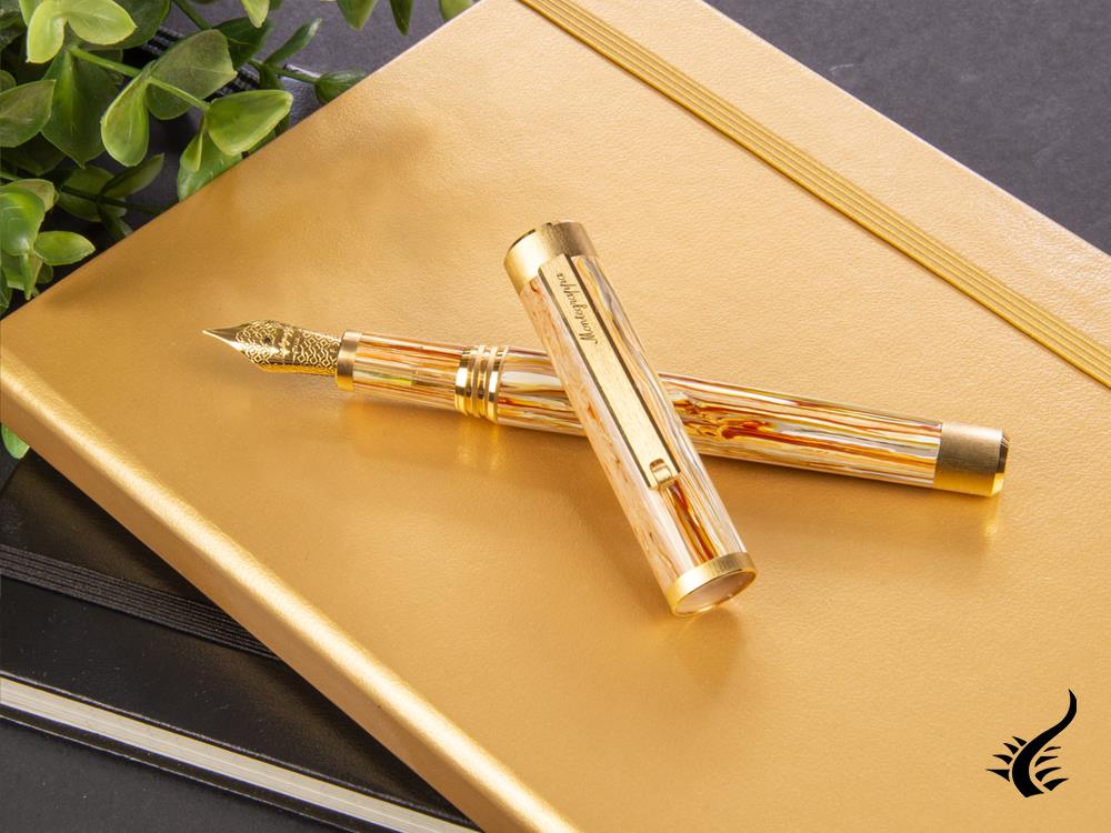 Montegrappa Zero Caramel Fountain Pen, Resin, ISZET-BY001