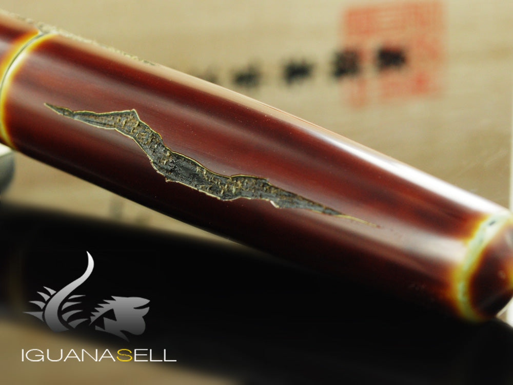 "Nakaya Cigar Piccolo ""Nuno Kise Hon Kataji"" Fountain Pen, Ebonite"