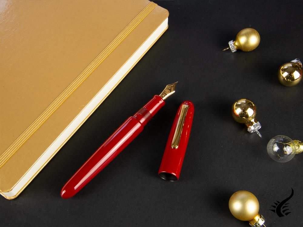 Nakaya Writer Portable Shu Fountain Pen, Ebonite, Gold