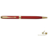 Parker Sonnet Slim Ballpoint Pen, Lacquer, Gold Trim, Red, 1931477