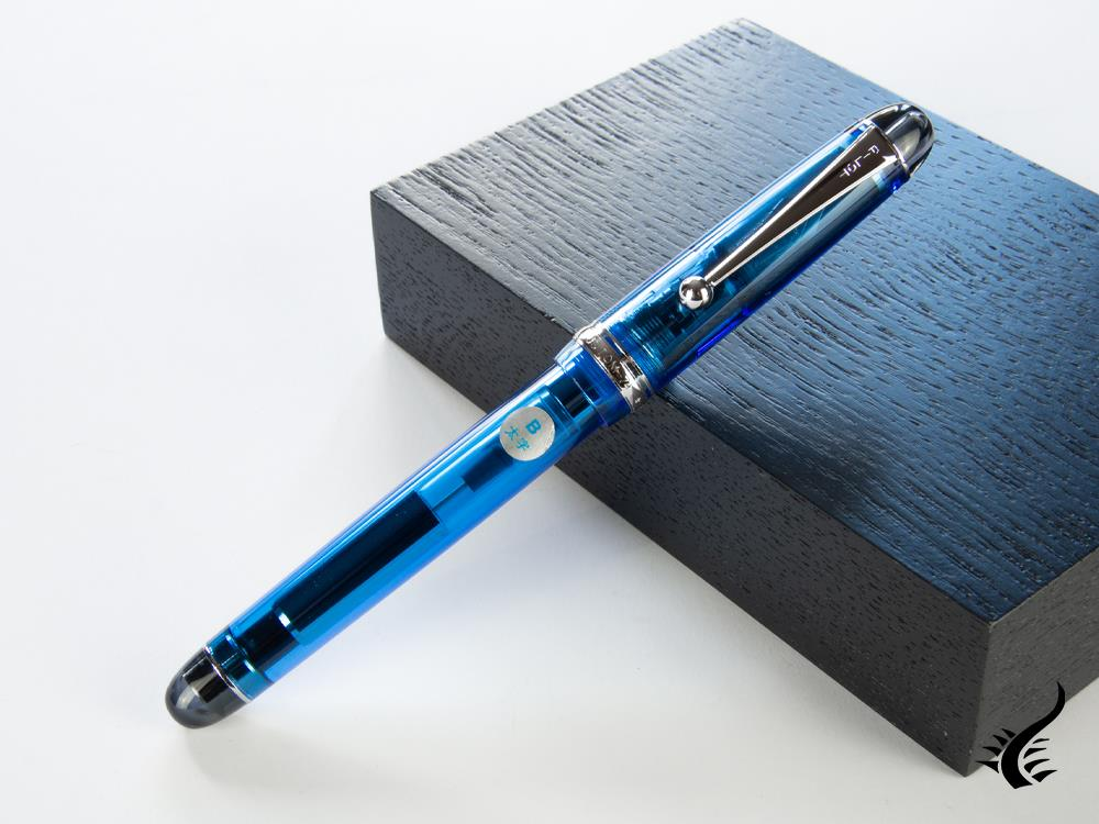 Pilot Custom 74 Fountain Pen, Resin, Resin, Rhodium trim, Blue, NC74AM