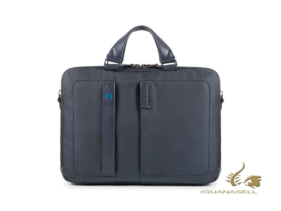 Piquadro P16 Document case, Leather, Grey, Laptop compartment, CA3347P16/CHEVBLU