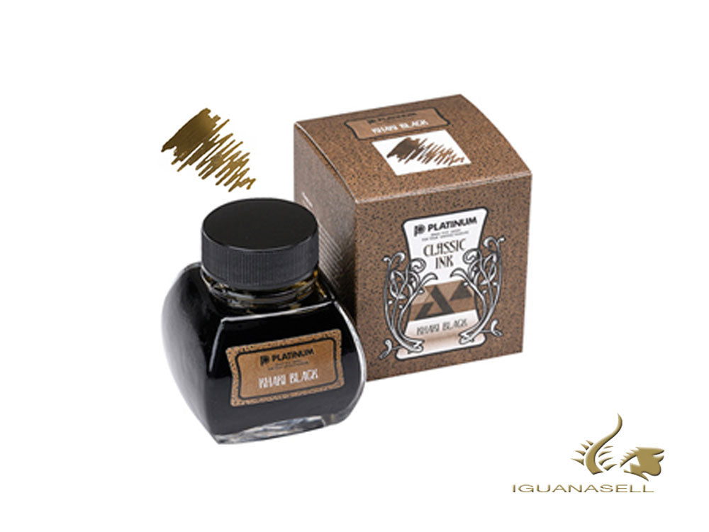 Platinum Ink Bottle, 60ml, Khaki Black, INKK-2000-61