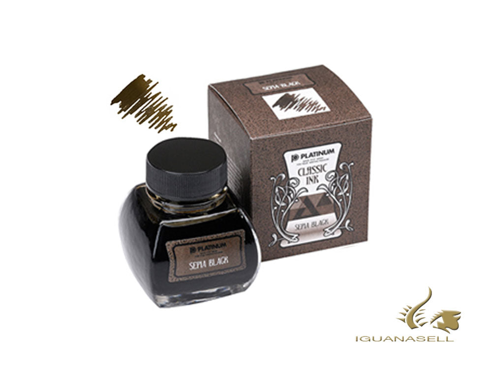 Platinum Ink Bottle, 60ml, Sepia Black, INKK-2000-66