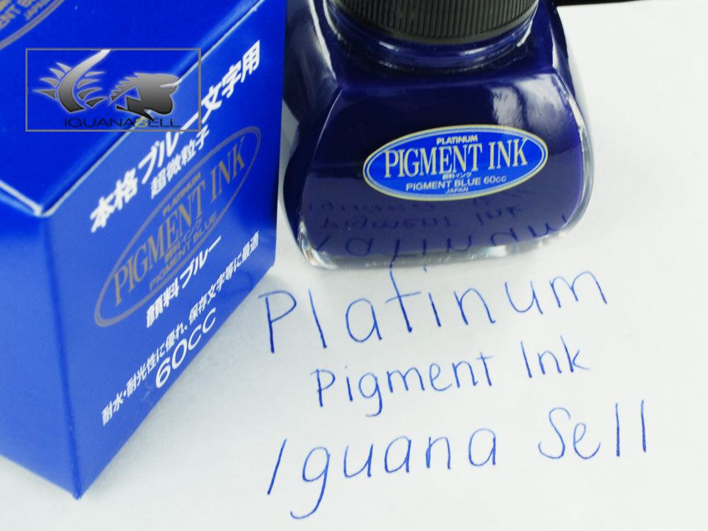 Platinum Ink Bottle, 60ml. Blue, Pigment ink