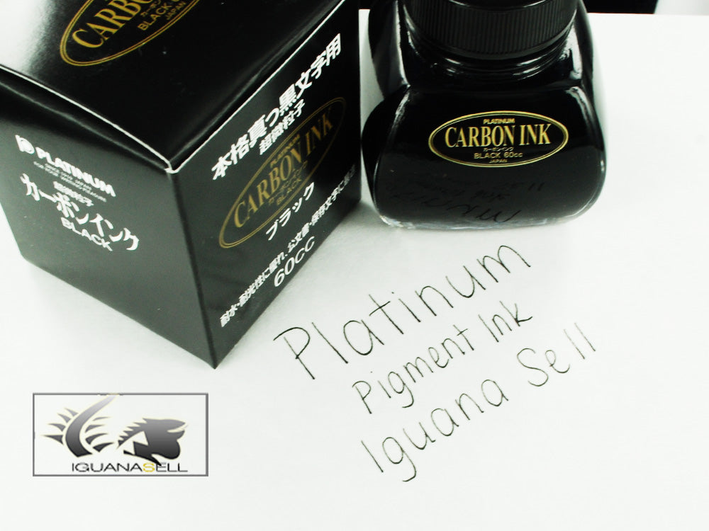 Platinum Ink Bottle, 60ml. Carbon Black, Pigment ink