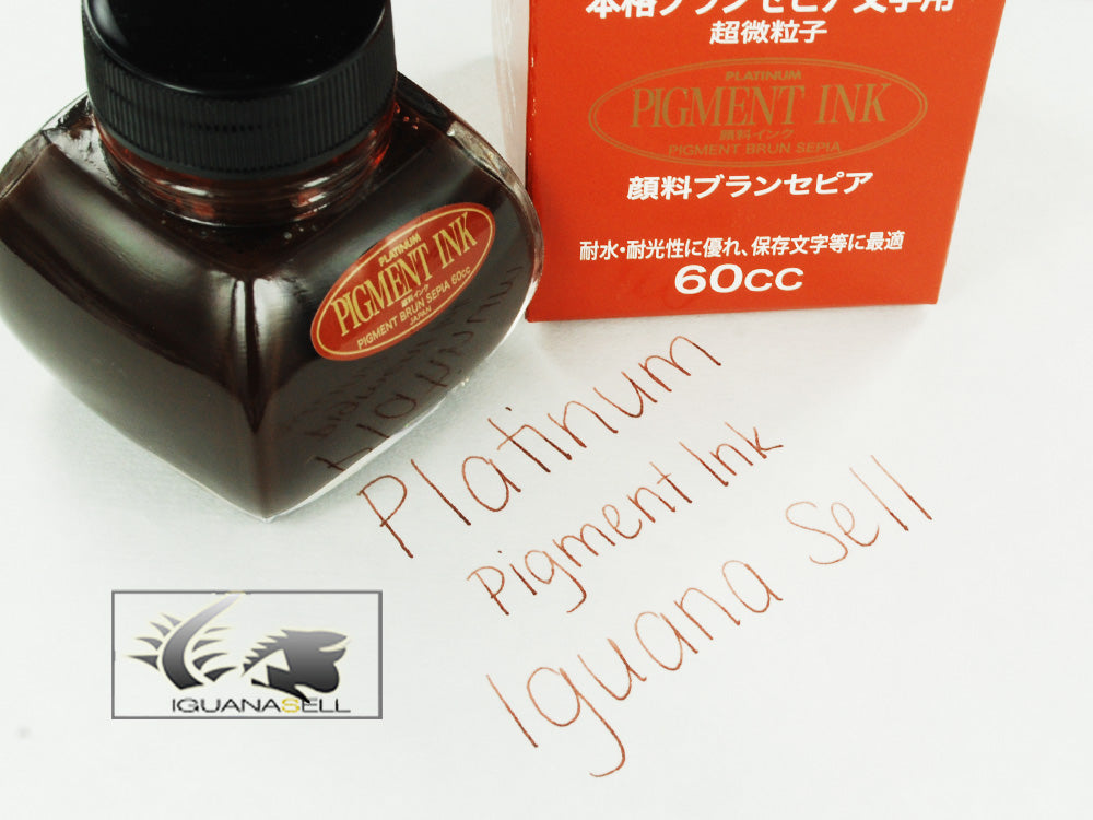Platinum Ink Bottle, 60ml. Sepia, Pigment ink