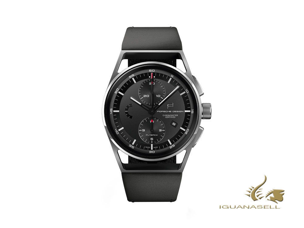 Porsche Design 1919 Chronotimer Flyback Automatic Watch Black & Leather