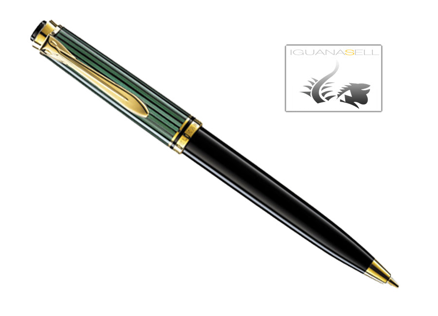 Pelikan D300 Mechanical pencil, Black and green, Gold trim, 903039