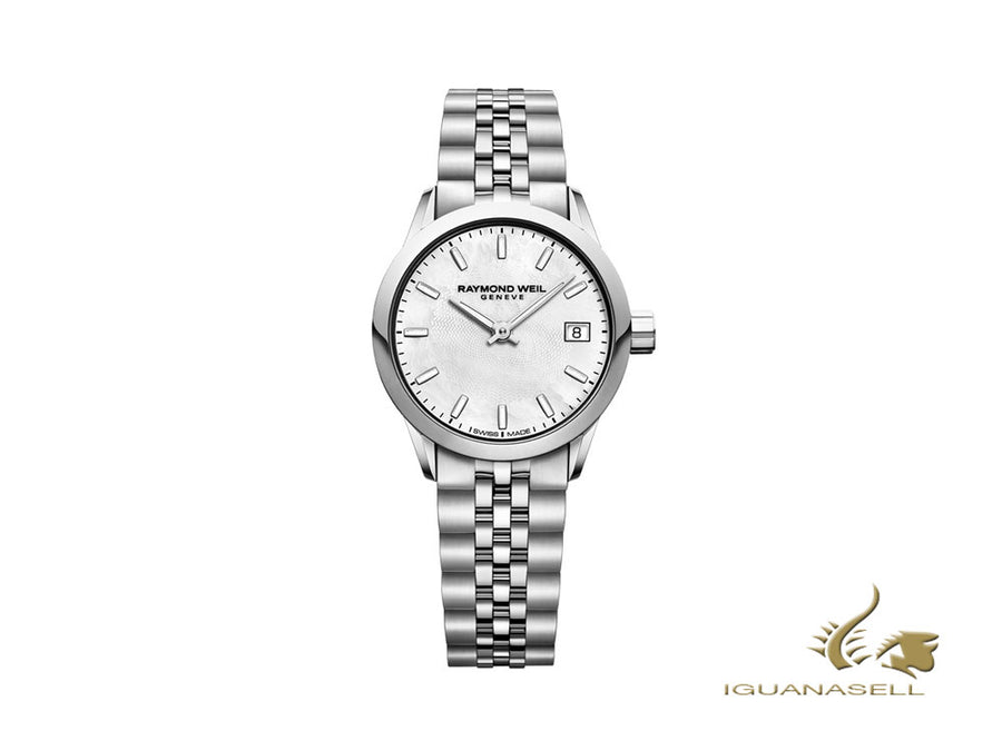 Raymond Weil Freelancer Quartz Watch, Mother of pearl, 29mm, 5626-ST-97021