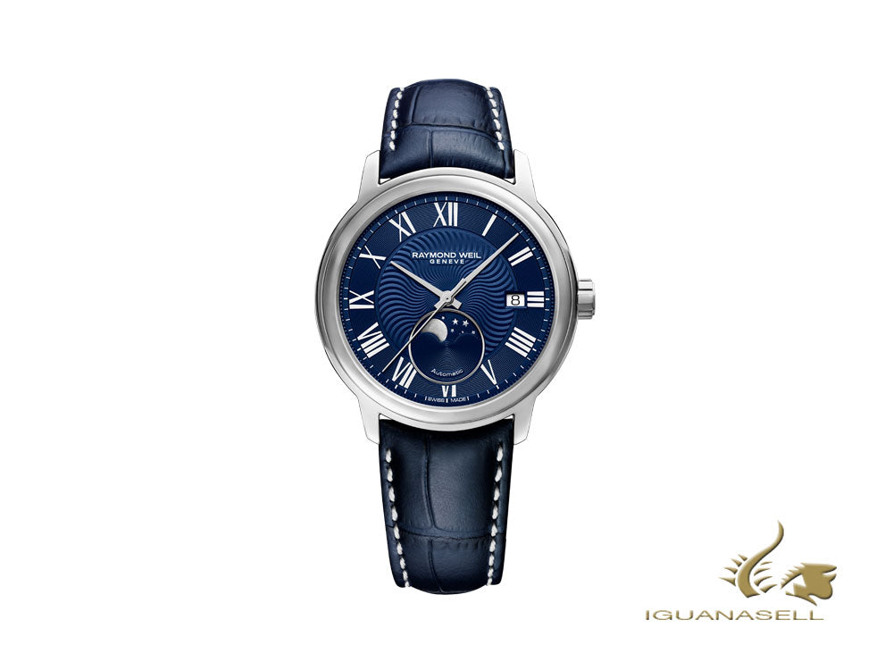 Raymond Weil Maestro Automatic Watch, 40 mm, Day, Moonphase, 2239-STC-00509