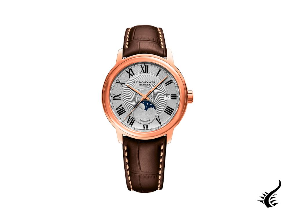 Raymond Weil Maestro Automatic Watch, PVD rose gold, 40 mm, Day, 2239-PC5-00659