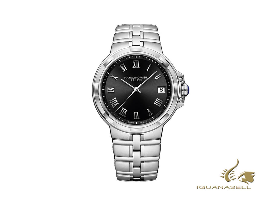 Raymond Weil Parsifal Quartz Watch, Black, 41 mm, 5580-ST-00208