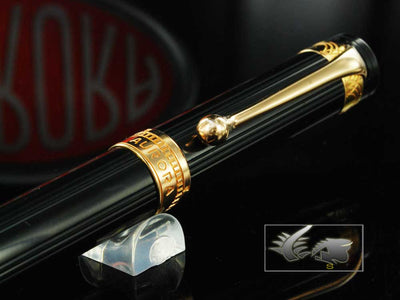 Aurora Roller Pen Andrea Palladio, Limited and Numbered Edition 326, Gold trims
