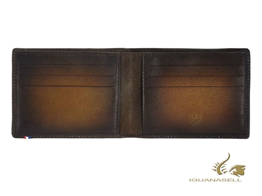 S.T. Dupont Atelier Tobacco Wallet, Brown, Leather, 6 Cards, 190200