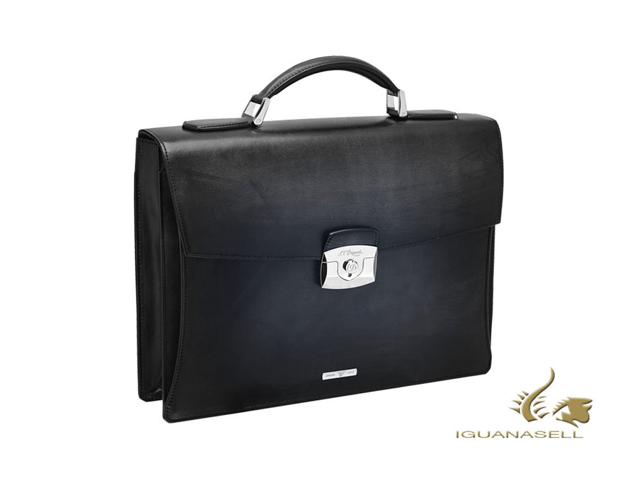 S.T. Dupont Atelier Toit de Paris Briefcase, Leather, Palladium, Black, 191440