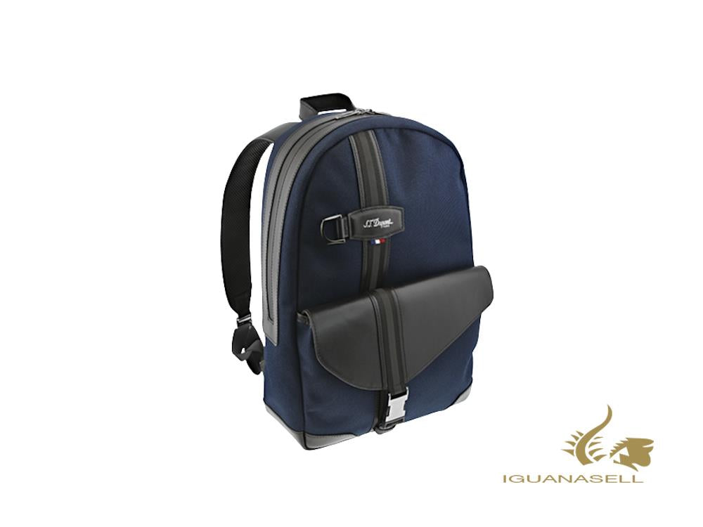 S.T. Dupont Défi Millenium Backpack, Leather, Blue, 1, Zip, 173010