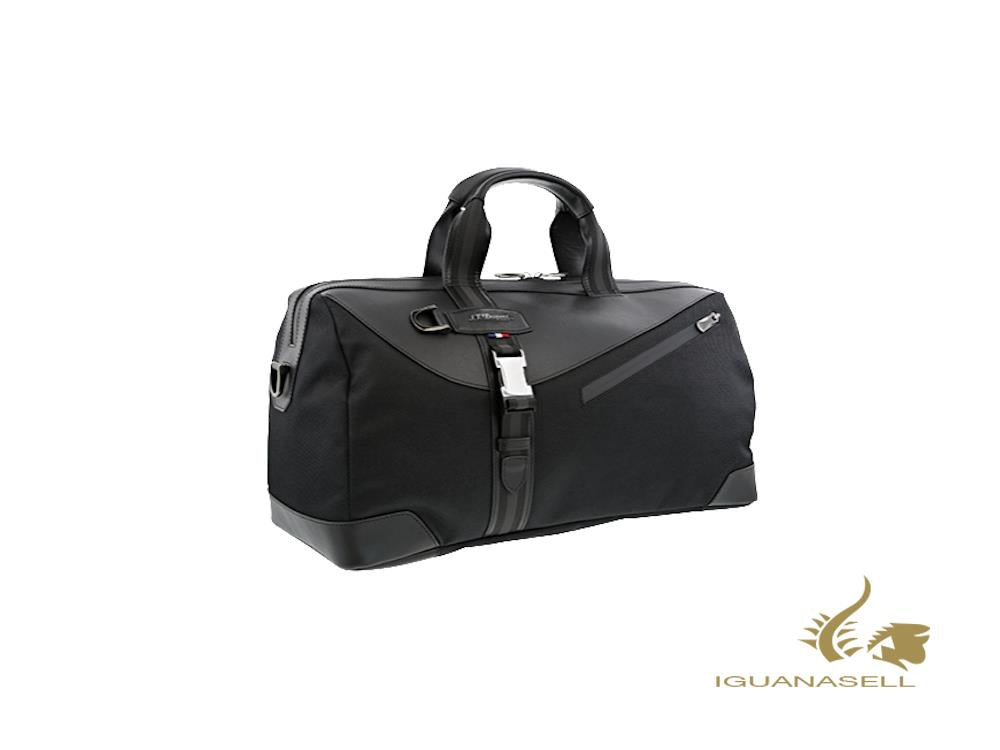 S.T. Dupont Défi Millenium Travel bag, Leather, Black, Zip, 174008