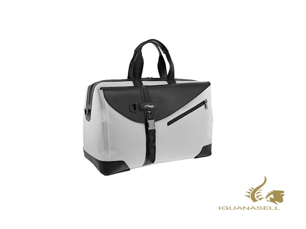 S.T. Dupont Défi Millenium Travel bag, Leather, White, Zip, 175009