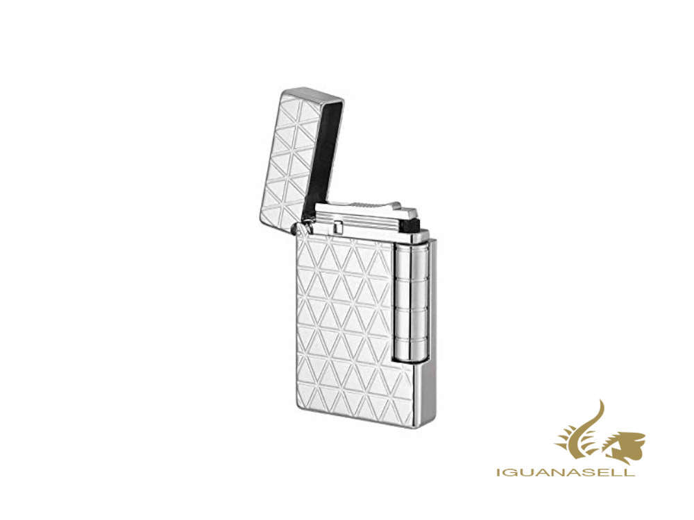 S.T. Dupont Initial Lighter, White bronze Fire head, Silver, 20805