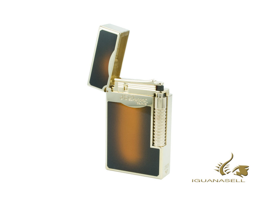 S.T. Dupont Ligne 2 Le Grand Sun burst brown Lighter, Gold trim, 023012