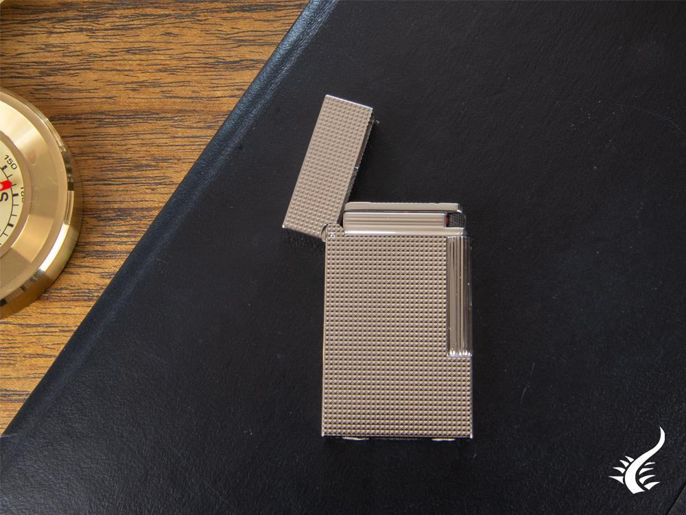 S.T. Dupont Ligne 2 Slim Micro Diamond, Lighter, Palladium, 017081