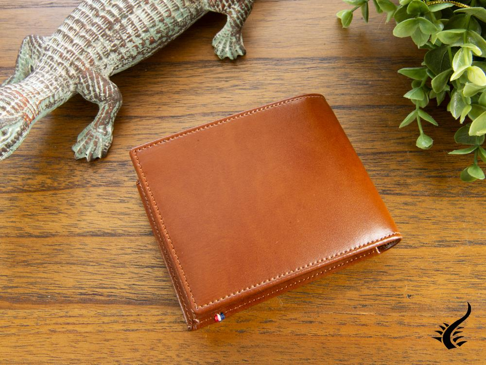 S.T. Dupont Line D Wallet, Brown, Leather, 6 Cards, 180100