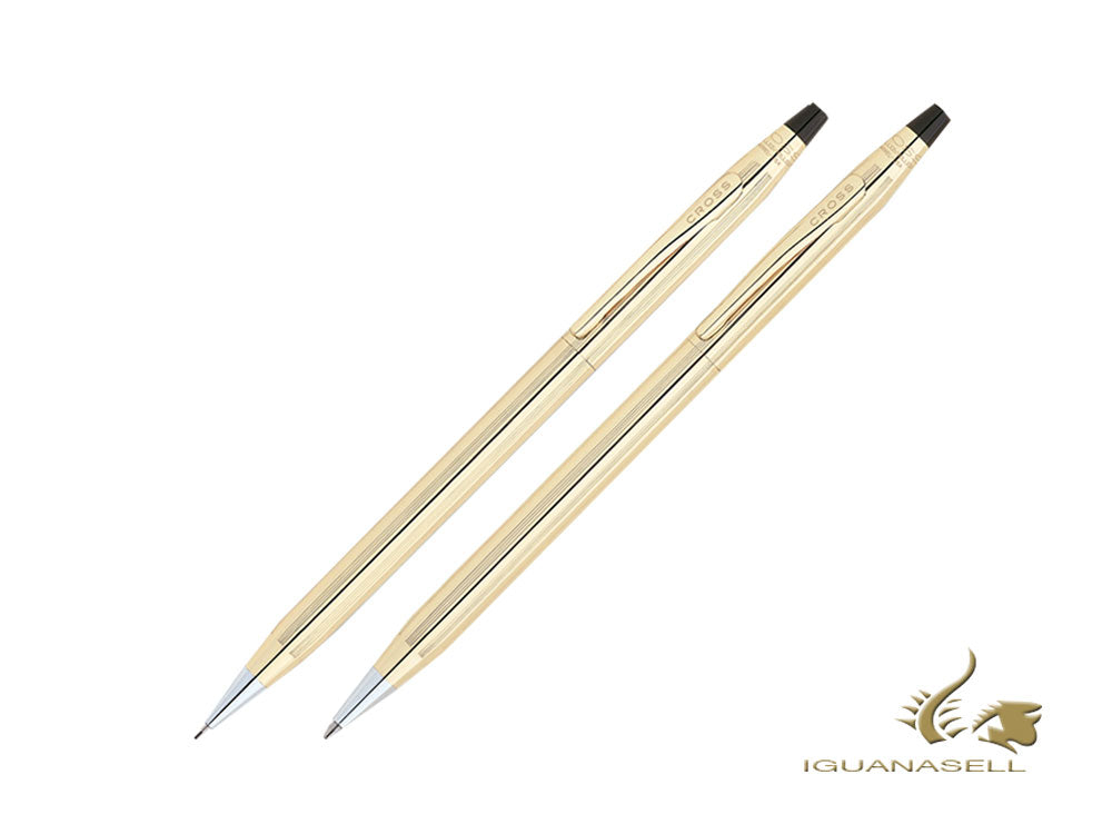 Cross Classic Century Ballpoint pen & Pencil Set, 10K Gold Filled, Polished