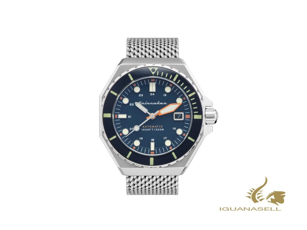 Spinnaker Dumas Automatic Watch, Blue, 44 mm, 30 atm, SP-5081-22