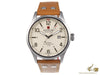 Swiss Military Hanowa Challenge Undercover Quartz Watch, Ivory, Leather strap