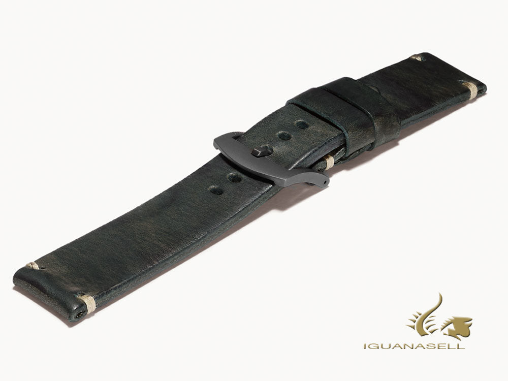 U-Boat Accesorios Strap, Leather, Cotton, Green, 23mm., Stainless Steel, 6966