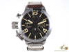 U-Boat Classico Automatic Watch, Tungsten, Black, 45mm, Chronograph, 7430/A