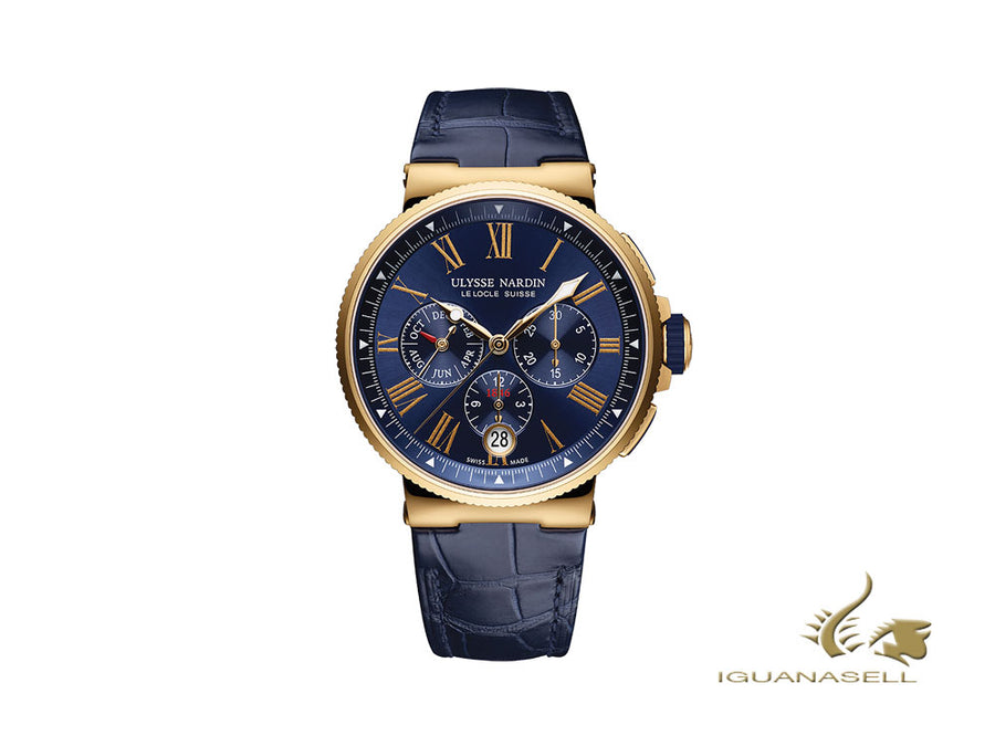 Ulysse Nardin Marine Chronograph Automatic Watch, 18Kt Rose gold, 1532-150/43