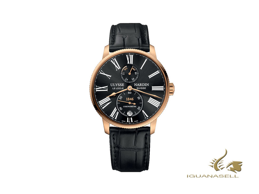 Ulysse Nardin Marine Torpilleur Automatic Watch, 18K Rose Gold