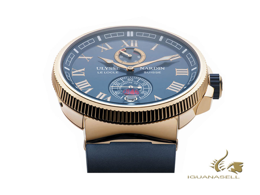Ulysse Nardin Marine Chronometer Manufacture Automatic Watch, 18Kt Rose gold,
