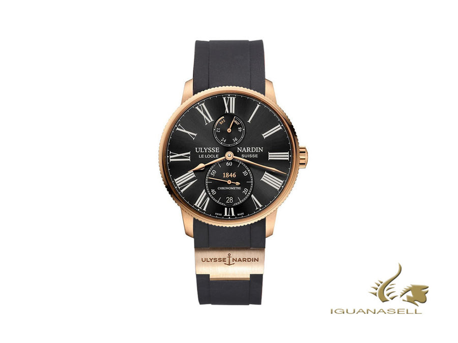 Ulysse Nardin Marine Torpilleur Automatic Watch, 18Kt Rose gold