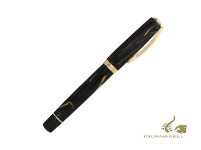 Visconti Medici Golden Black Fountain Pen, Black, Gold, KP17-07-FP-ESP