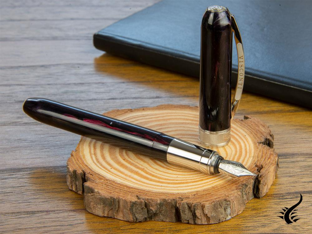 Visconti Rembrandt Twilight Fountain Pen, Violet, Black, KP10-13-FP