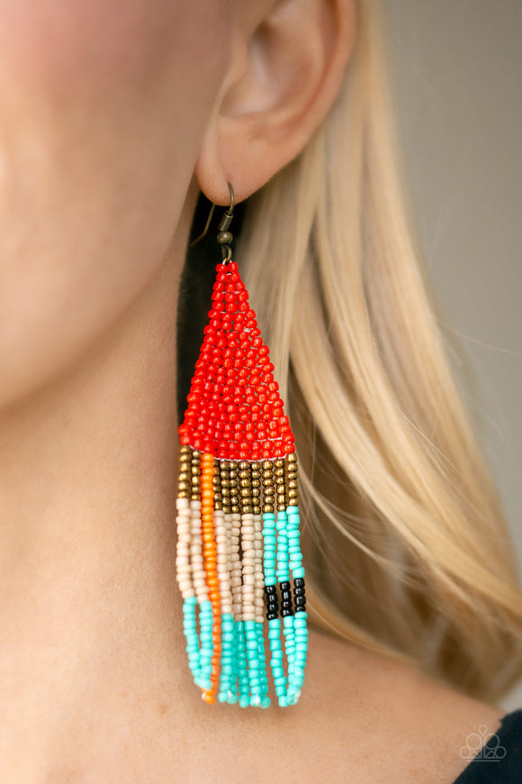 Beaded Boho Red - Paparazzi Accessories