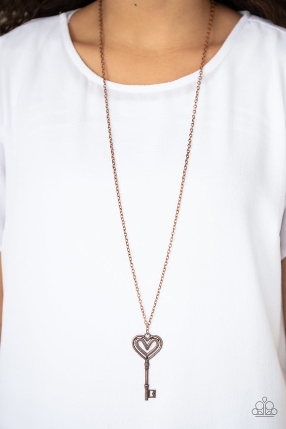 Unlock My Heart Copper - Paparazzi Accessories
