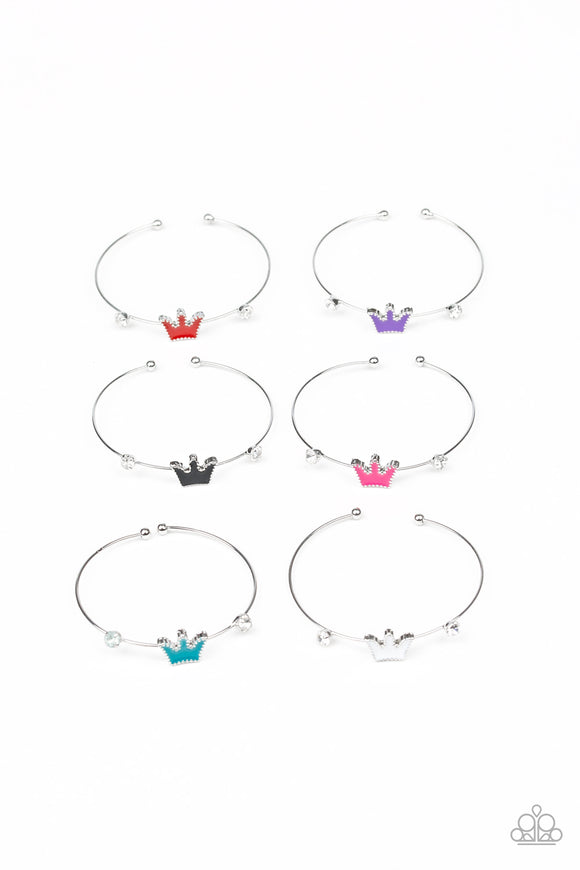 5 Princess Crown Starlet Shimmer Bracelets - Paparazzi Accessories