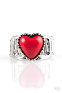 Rule With Your Heart Red - Paparazzi Accessories